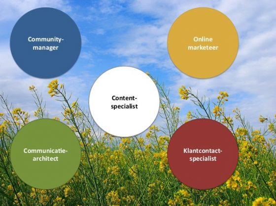 Vijf communicatiespecialisaties volgens Renata Verloop (2014)
