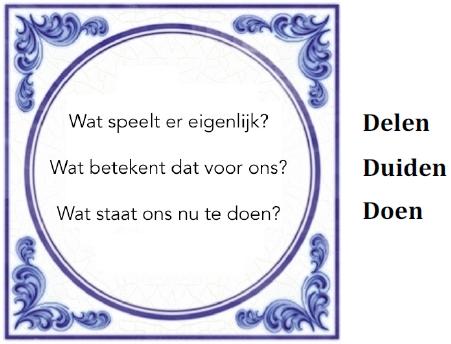 "Erik Reijnders' betekeningsgevingstegel ""Delen Duiden Doen"" (2015)"