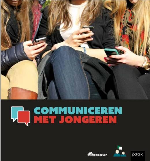 """Omslag van het boek """"Communiceren Met Jongeren"""" (Brussel: Politeia i.s.m. Mediaraven 2015-11, ISBN 9782509025784)"""